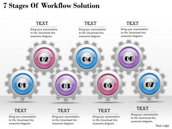Sales Concepts 7 Stages Of Workflow Solution Business Strategic Plan Ppt Slide