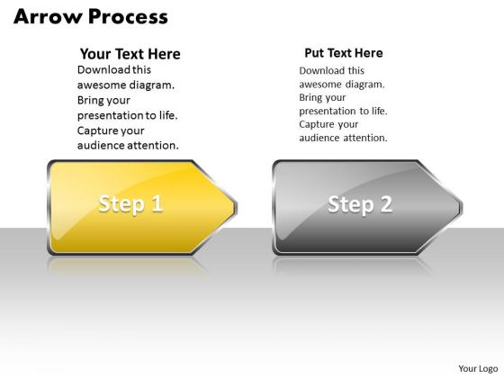 Sales Ppt Background Arrow Process 2 Stages Style 1 Project Management PowerPoint Graphic