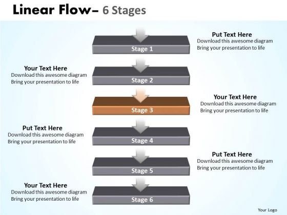 Sales Ppt Non-linear PowerPoint Flow 6 Stages1 4 Design