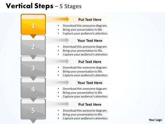 Sales Ppt Template Vertical Steps 5 Business Plan Powerpoint