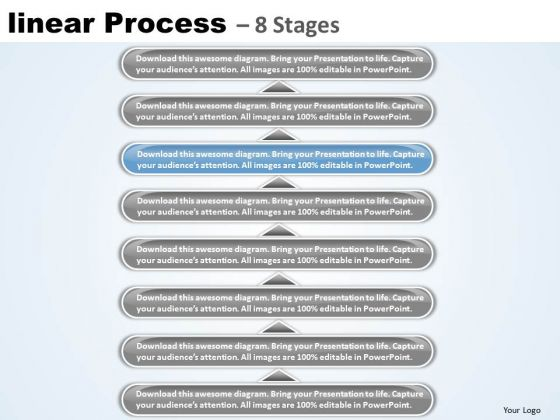 Sales Ppt Theme Linear Process 8 State Diagram Business Management PowerPoint 7 Design
