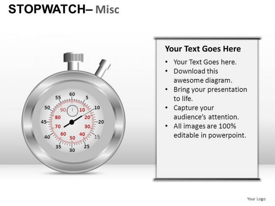 Sales Stopwatch Misc PowerPoint Slides And Ppt Diagram Templates
