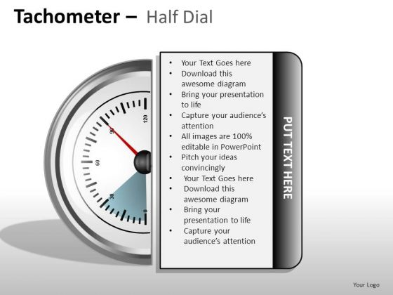 Sales Tachometer Half Dial PowerPoint Slides And Ppt Diagram Templates