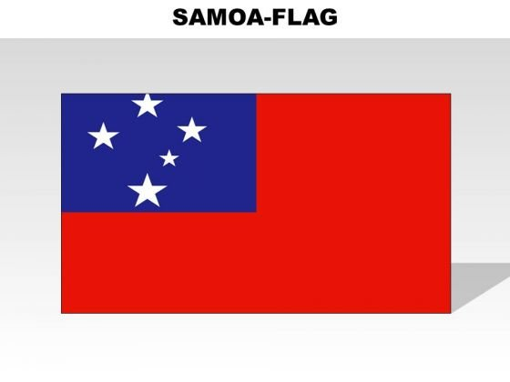 Samoa Country PowerPoint Flags