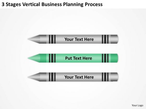 Sample Business Model Diagram 3 Stages Vertical Planning Process