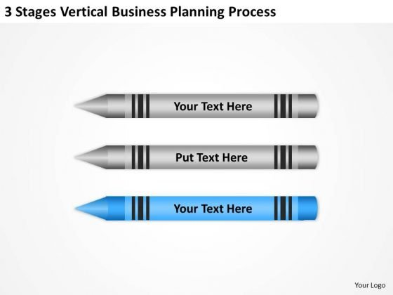 Sample Business Model Diagram 3 Stages Vertical Planning Process Ppt PowerPoint Slides