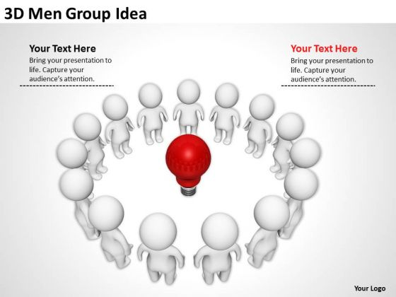 Sample Business Model Diagram 3d Men Group Idea PowerPoint Templates Ppt Backgrounds For Slides