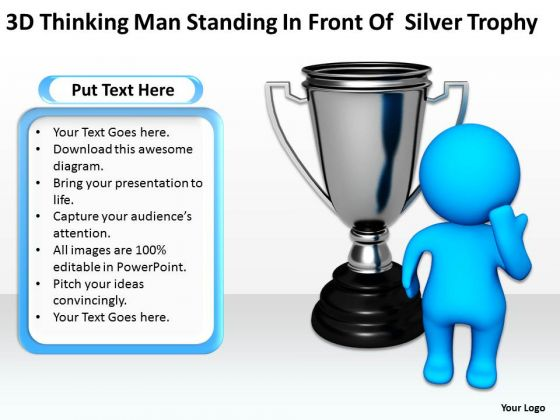 Sample Business Model Diagram Of Silver Trophy PowerPoint Templates Ppt Backgrounds For Slides