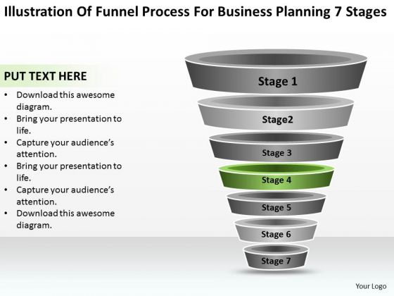 Sample Business PowerPoint Presentation For Planning 7 Stages Ppt Slide