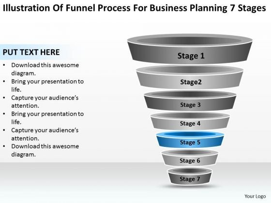 Sample Business PowerPoint Presentation For Planning 7 Stages Ppt Slides