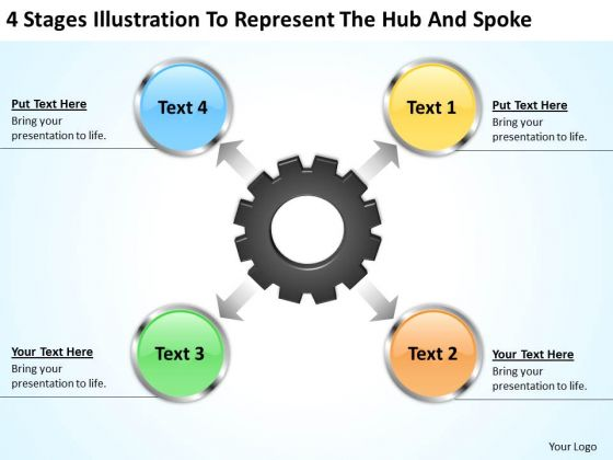 Sample Business PowerPoint Presentation To Represent The Hub And Spoke Slides