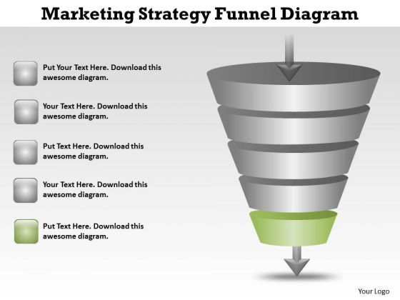 Sample Business PowerPoint Presentations Marketing Strategy Funnel Diagram Slides