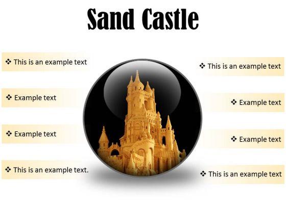 Sand Castle Beauty PowerPoint Presentation Slides C