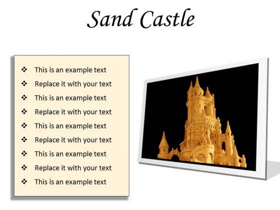 Sand Castle Beauty PowerPoint Presentation Slides F