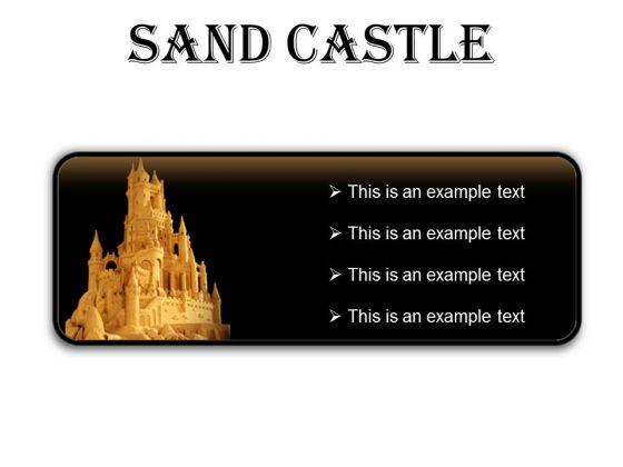 Sand Castle Beauty PowerPoint Presentation Slides R