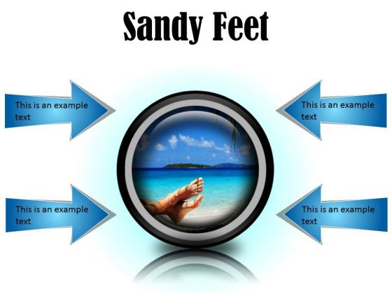 Sandy Feet Nature PowerPoint Presentation Slides Cc