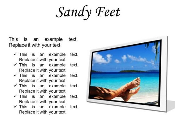 Sandy Feet Nature PowerPoint Presentation Slides F