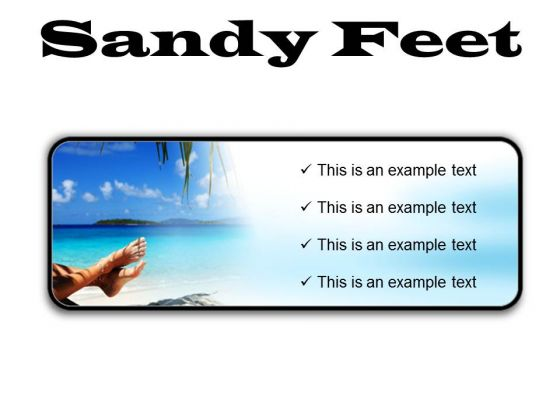 Sandy Feet Nature PowerPoint Presentation Slides R
