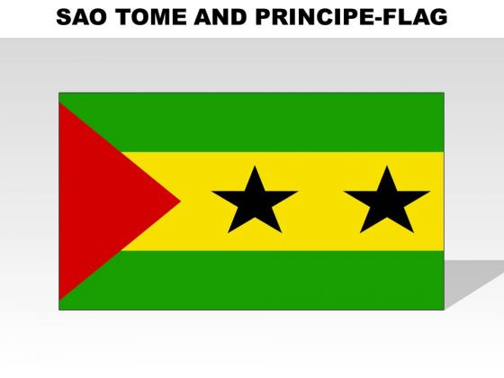 Sao Tome And Principe Country PowerPoint Flags