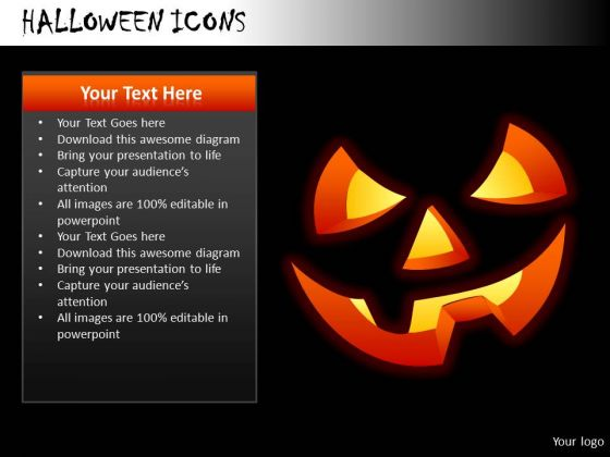Scary Halloween Icons PowerPoint Slides And Ppt Diagram Templates