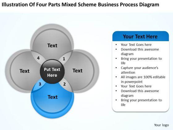 Scheme Business Process Diagram Ppt Plan Template Free PowerPoint Slides