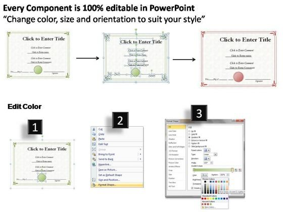 School Award Certificate Powerpoint Templates  Powerpoint Templates