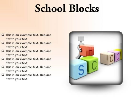 School Blocks Education PowerPoint Presentation Slides S