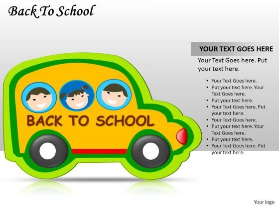School Bus Kids Back To School PowerPoint Slides And Ppt Diagram Templates