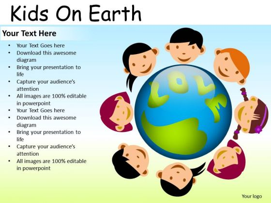 School Kids On Earth PowerPoint Slides And Ppt Diagram Templates