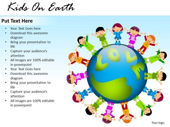 School Kids On Earth PowerPoint Slides And Ppt Template Diagrams