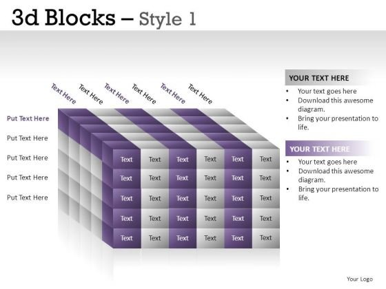 Science 3d Blocks 1 PowerPoint Slides And Ppt Diagram Templates