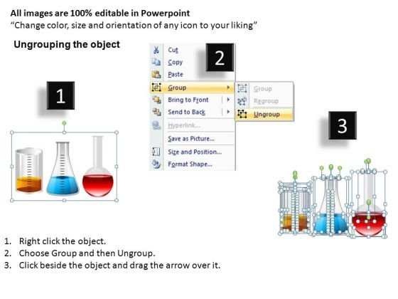 Science Lab Beakers Chemicals PowerPoint Templates Editable Ppt