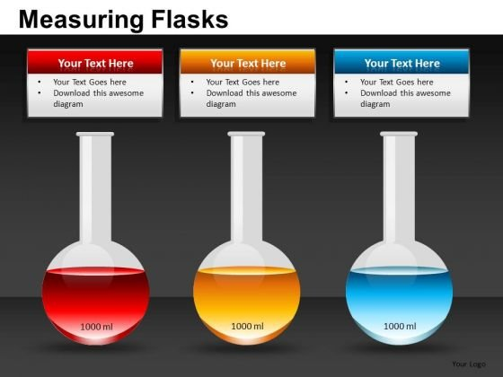 science lab flasks powerpoint templates science experiment, Powerpoint templates