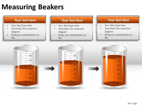 Science Measuring Beakers PowerPoint Slides And Ppt Diagram Templates