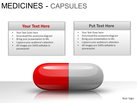Science Medical Capsules PowerPoint Slides And Ppt Diagram Templates