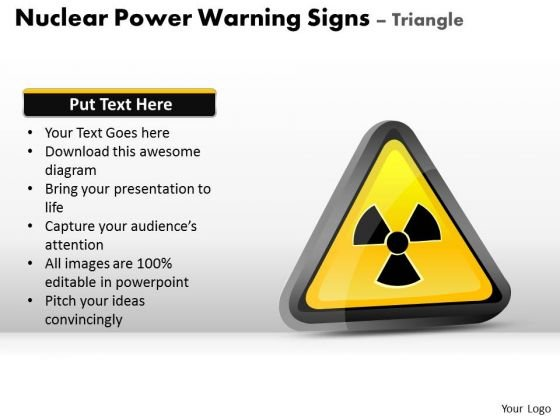 Science Nuclear Power Warning Signs Triangle PowerPoint Slides And Ppt Diagram Templates
