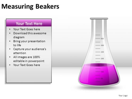 Scientific Measuring Beakers PowerPoint Slides And Ppt Diagram Templates