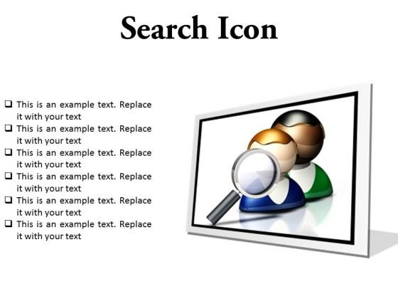 Search Icon Business PowerPoint Presentation Slides F