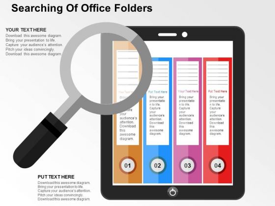 Searching Of Office Folders PowerPoint Templates