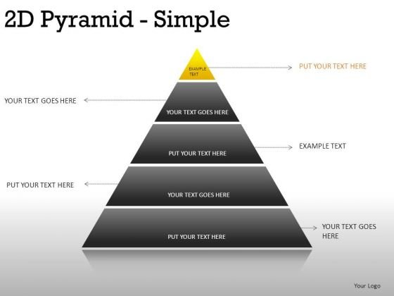 Sections 2d Pyramid Simple PowerPoint Slides And Ppt Diagram Templates