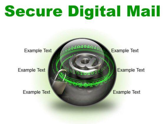 Secure Digital Mail Internet PowerPoint Presentation Slides C