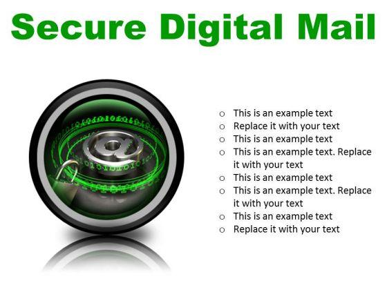 Secure Digital Mail Internet PowerPoint Presentation Slides Cc
