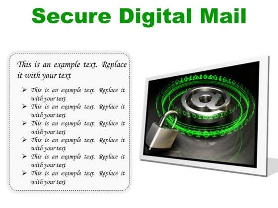 Secure Digital Mail Internet PowerPoint Presentation Slides F