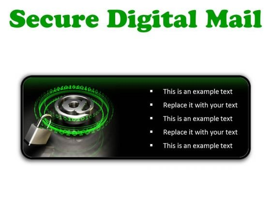 Secure Digital Mail Internet PowerPoint Presentation Slides R