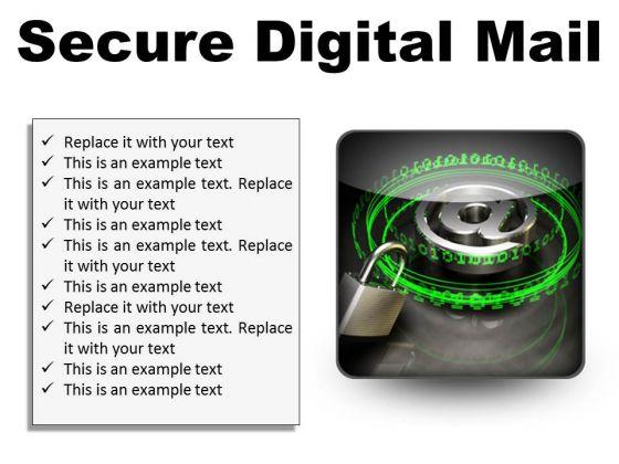 Secure Digital Mail Internet PowerPoint Presentation Slides S
