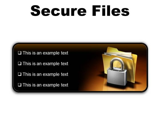 Secure Files Security PowerPoint Presentation Slides R