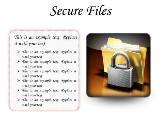 Secure Files Security PowerPoint Presentation Slides S