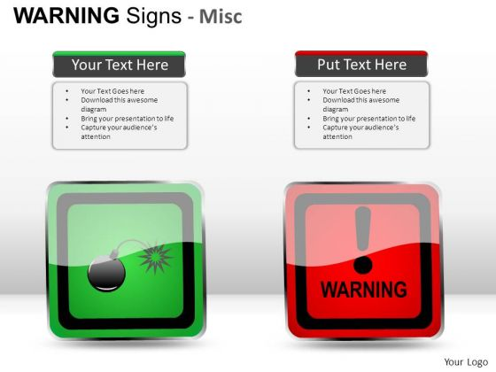 Security Warning Signs PowerPoint Slides And Ppt Diagram Templates