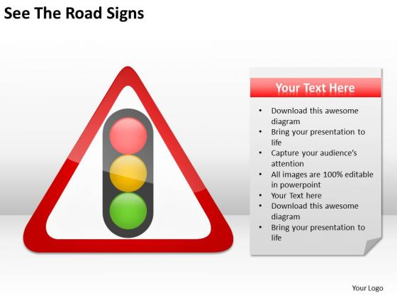 See The Road Signs Ppt Business Plan Builder PowerPoint Templates