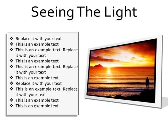 Seeing The Light Nature PowerPoint Presentation Slides F